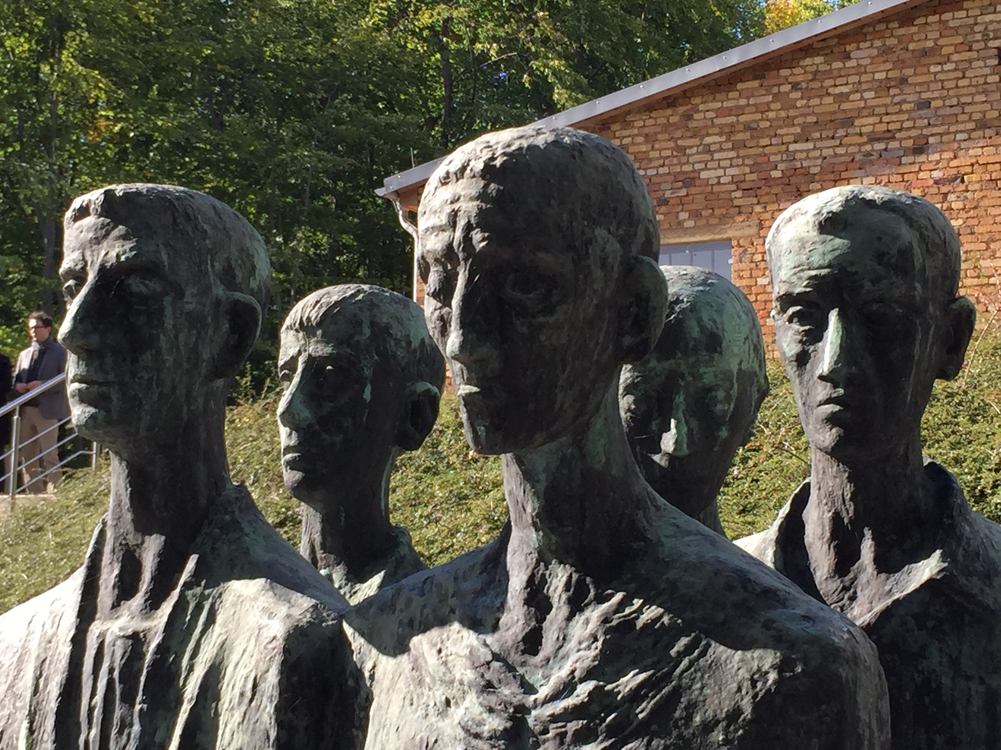 Memorial to the victims of the Holocaust outside the crematorium at Mittelbauw-Dora concentration camp